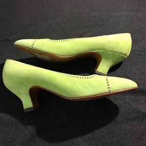 Clementine Couture Shoes - Clementine Couture Suede Green ShoesS8.5 France.